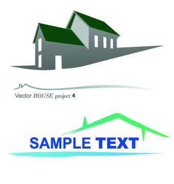 340x358 House Creative Logos Vector Illustration 01