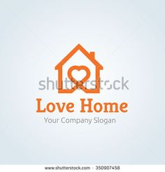 236x246 Love Home Logo,house Logo,love Logo,real Estate Logo,vector Logo