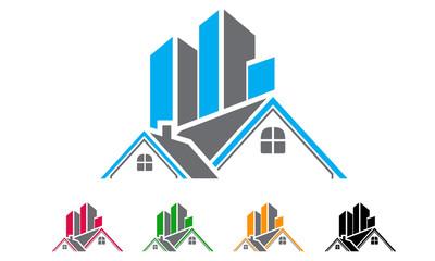 400x240 Real Estate, Building, House, Property, Home Logo Design