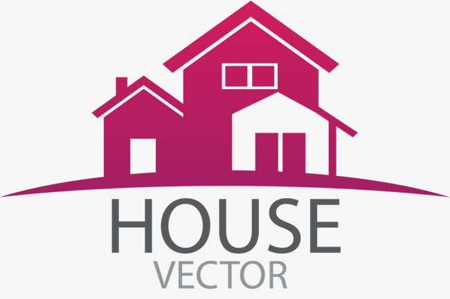 650x433 European Simple Furniture Home Logo Vector, Red, Lovely, Modern