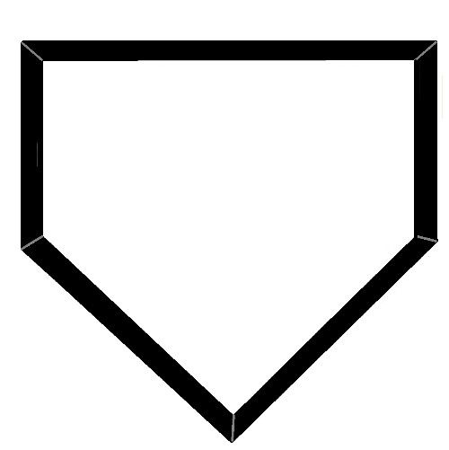 500x501 Collection Of Home Plate Clipart Black And White High