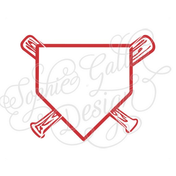 570x570 Baseball Home Plate Design Svg Dxf Png Digital Download File Etsy
