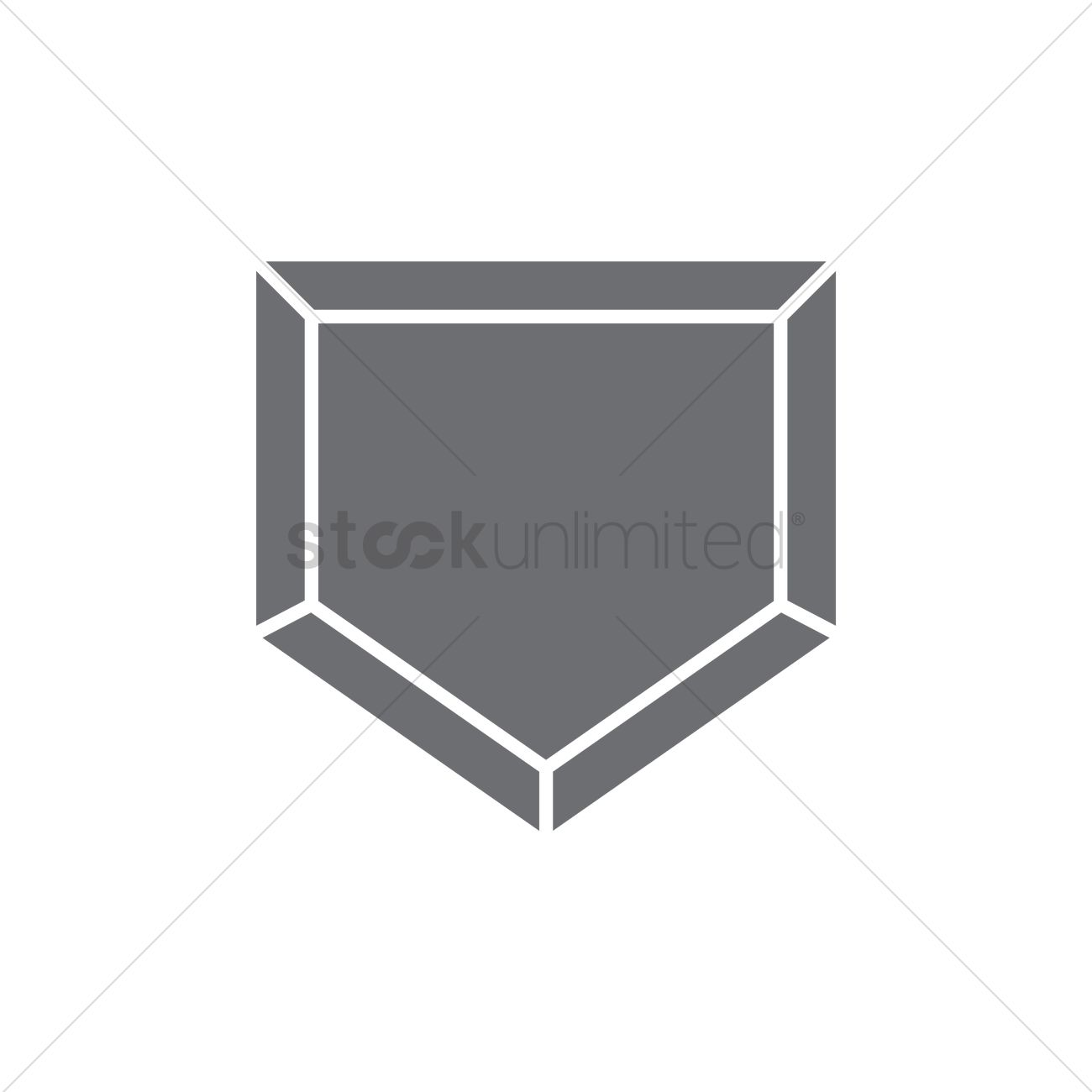 1300x1300 Baseball Home Plate Vector Image