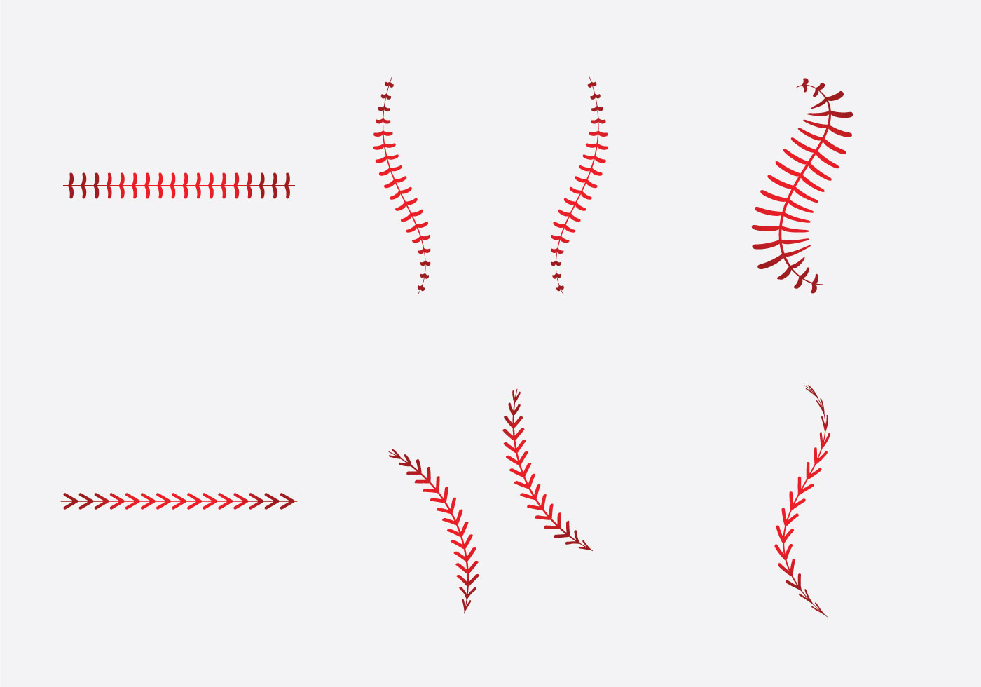 1400x980 Free Baseball Laces Vector Illlustration
