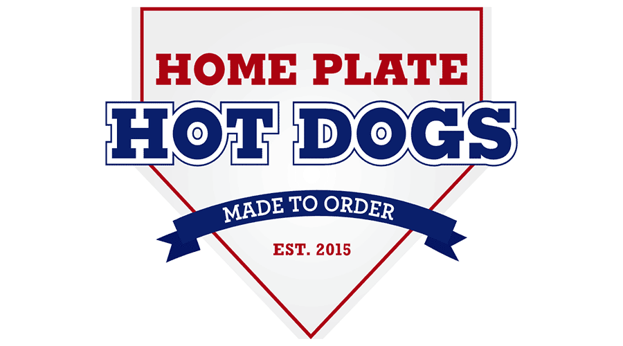 900x500 Home Plate Hot Dogs Vector Logo