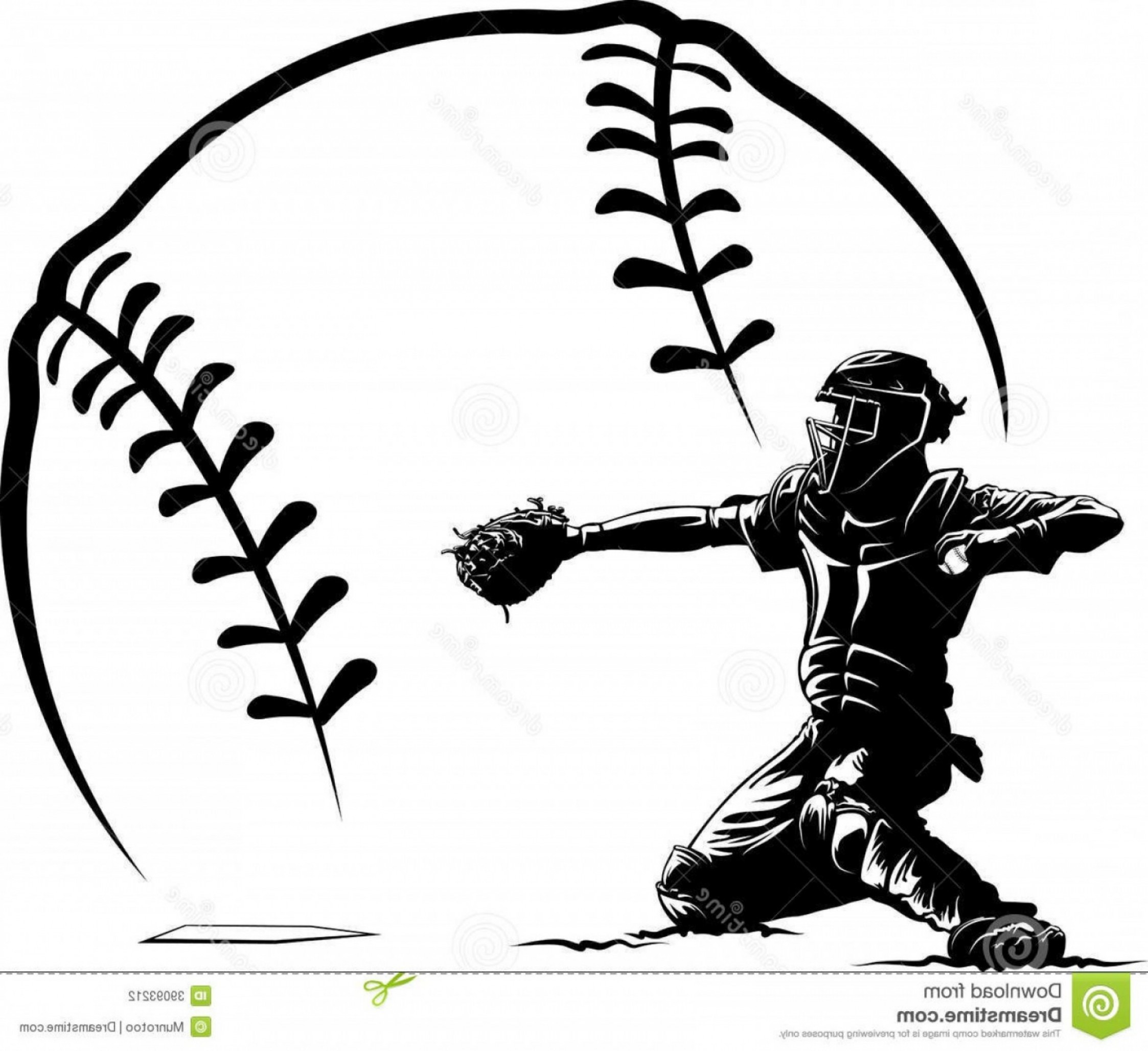 2246x2056 Best Baseball Catcher Vector Image Collection
