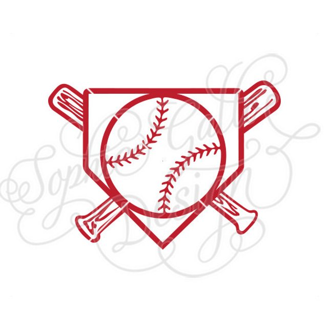 642x642 Baseball Home Plate Logo Svg Dxf Png Digital Download File Etsy