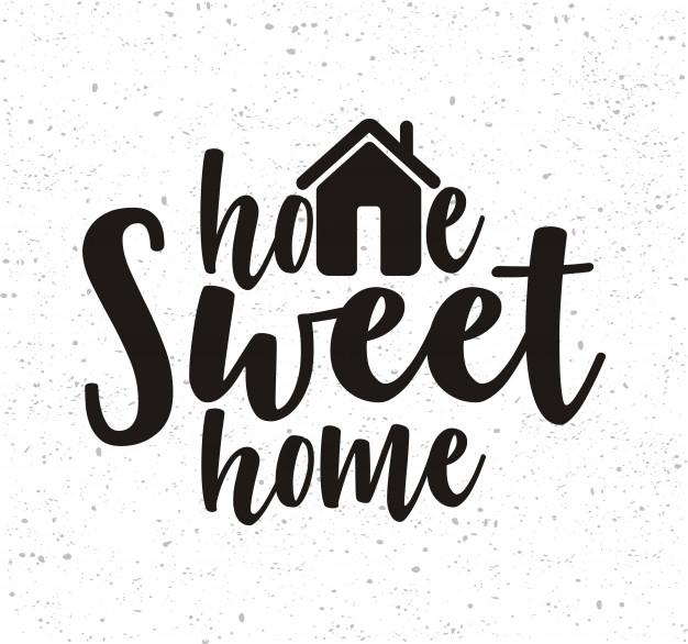 626x586 Handwritten Word Home Sweet Home. Vector Premium Download