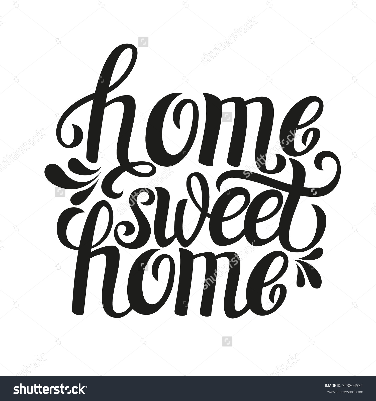 1500x1600 Cute Country Home Sweet Home Clip Freeuse Download