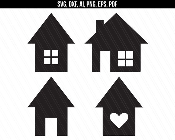 570x455 House Svg Home Svg House Vector Clipart House Shapes Etsy