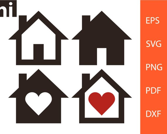 570x457 House Svg Home Svg House Vector Home Vector House Etsy