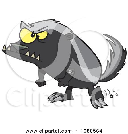 450x470 Badger Cartoon Clipart