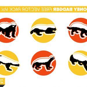 300x300 Honey Badger Free Vector Pack Vol Orangiausa