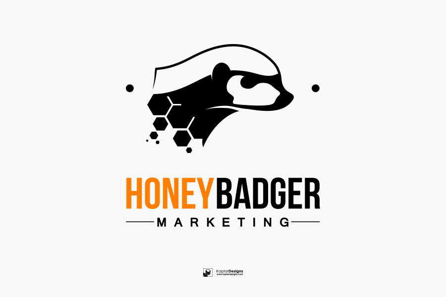 900x600 Honey Badger Marketing Vector Logo Concept By
