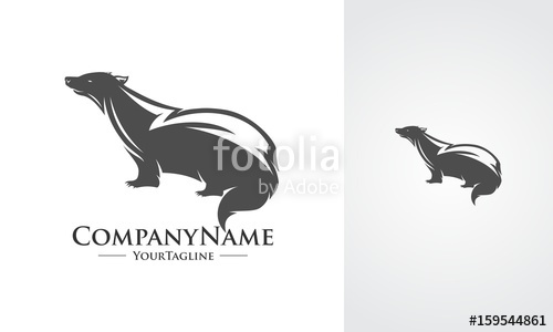 500x300 Honey Badger Silhouettes Stock Image And Royalty Free Vector