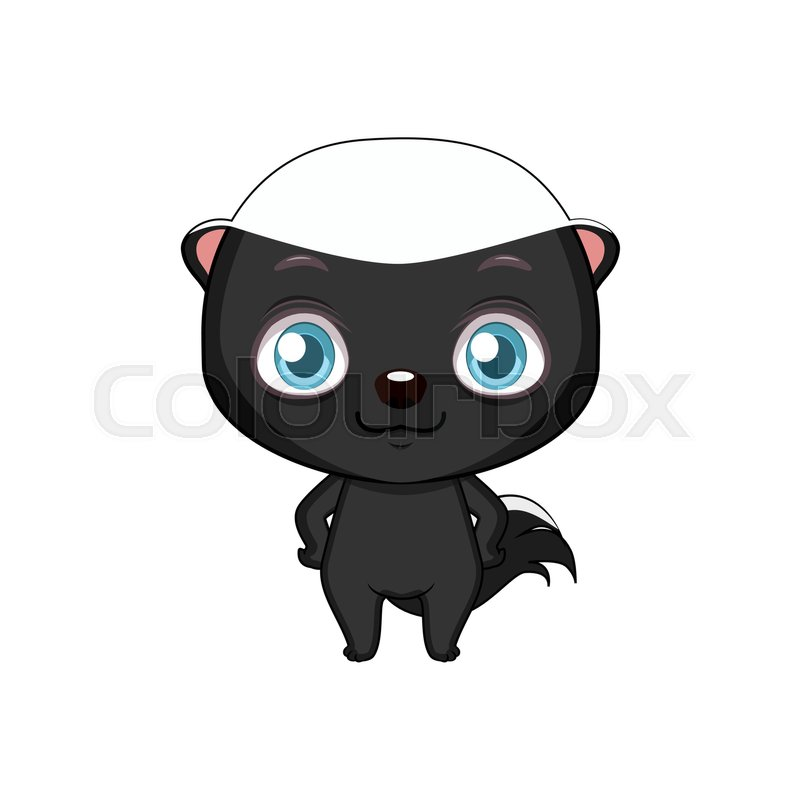 800x800 Cute Stylized Cartoon Honey Badger Illustration ( For Fun