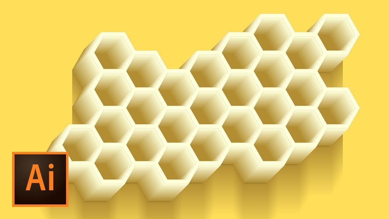 1280x720 Honeycomb Vector Illustration