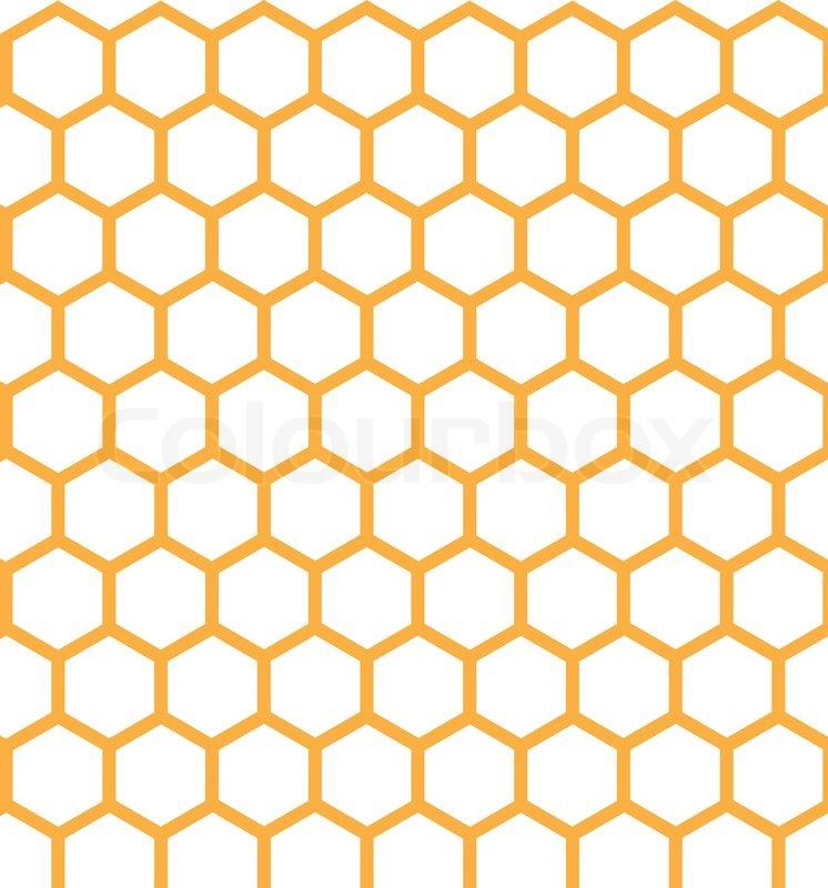 746x800 Honeycomb Grid Seamless Pattern. Stock Vector Colourbox