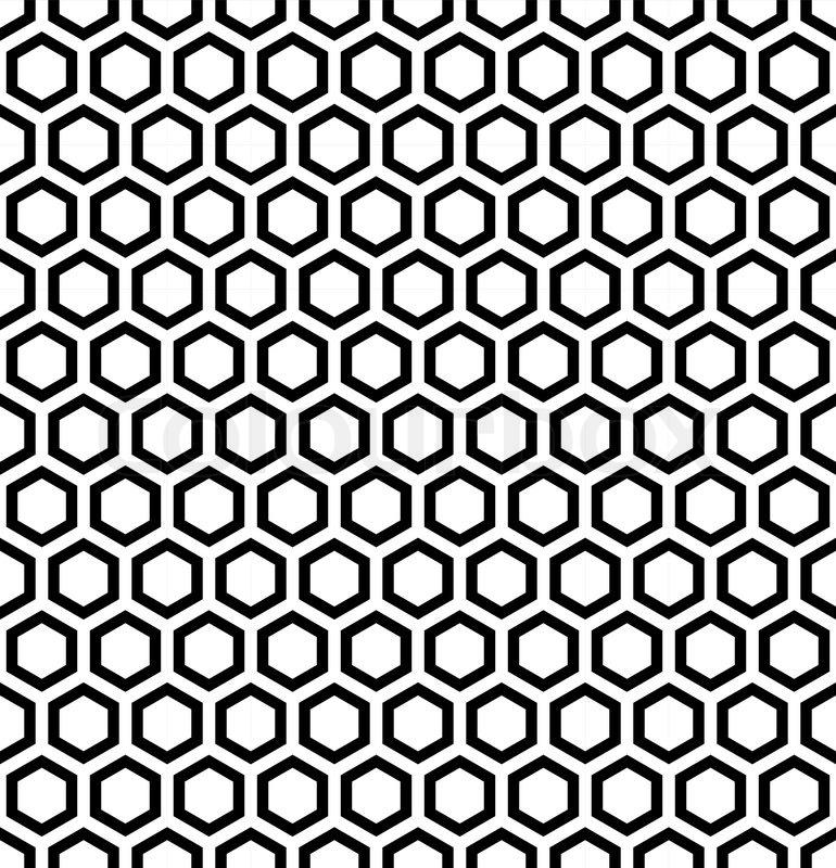 770x800 Honeycomb Pattern. Seamless Hexagons Texture. Vector Art. Stock