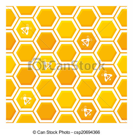 450x455 Honeycomb Pattern. Vector, Illustration, Seamless, Geometric