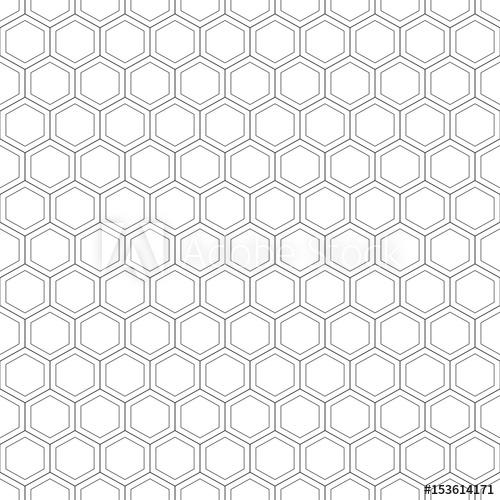 500x500 Honeycomb Seamless Pattern.vector Illustration.hexagonal Texture