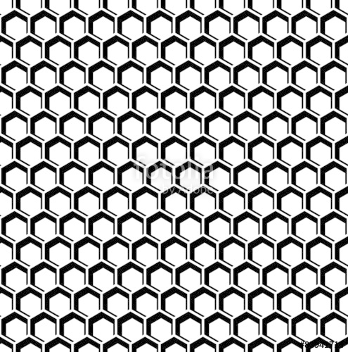 495x500 Seamless Hexagons Texture. Honeycomb Pattern. Stock Image And
