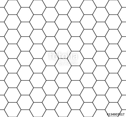 500x463 Seamless Honeycomb Pattern. Seamfree Honey Comb Hexagon Vector