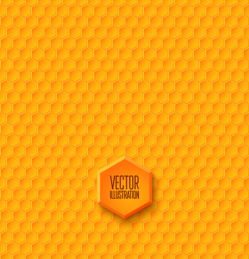 500x520 Honeycomb Yellow Seamless Pattern Vector Free Download