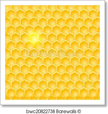 362x382 Art Print Of Seamless Abstract Honeycomb Pattern Barewalls