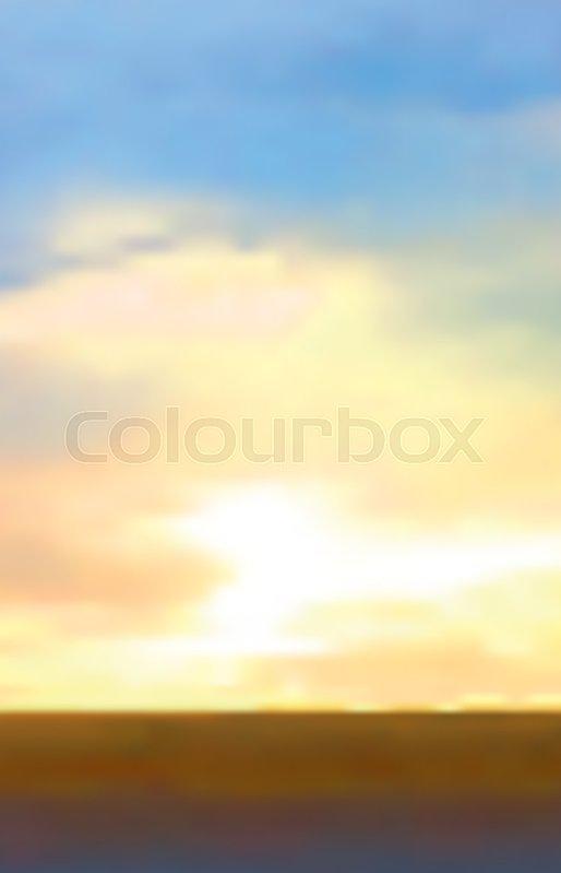 514x799 Abstract Vector Sunrise Background. Sunrise Or Sunset With Orange