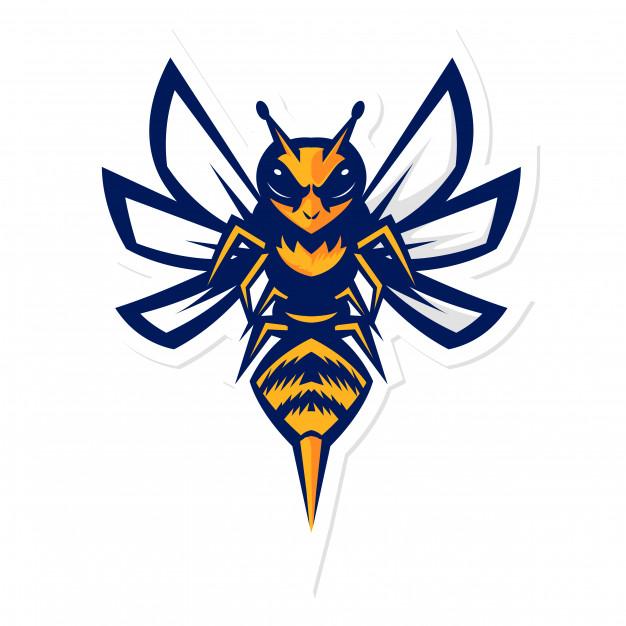 626x626 Bumblebee Hornet Mascot Logo Vector Premium Download
