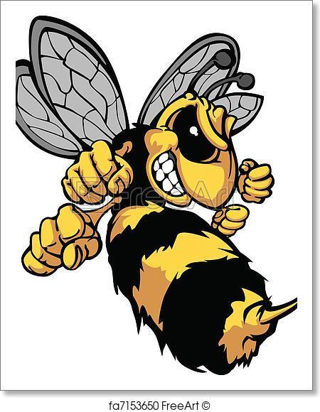 450x580 Free Art Print Of Bee Hornet Cartoon Vector Image. Cartoon Vector