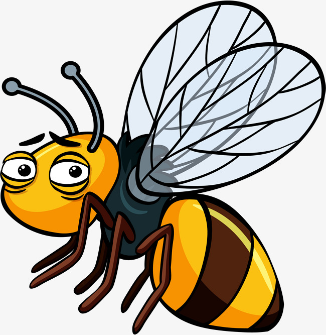 650x667 Tired Hornet, Vector Png, Little Bee, Bumblebee Png And Vector For