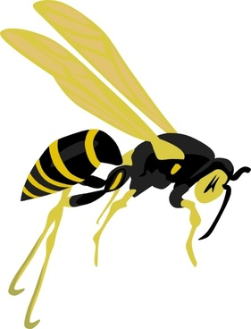 281x368 Wasp Clipart Vector