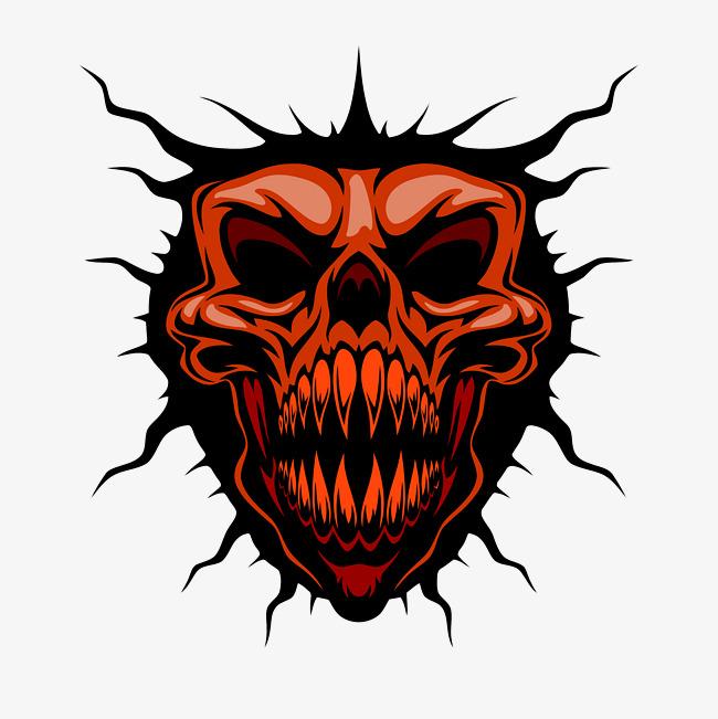 650x651 Horror Cartoon Devil Vector Material, Vector Material, Horror