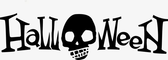 650x235 Horror Halloween Design Vector Material, English Font Halloween