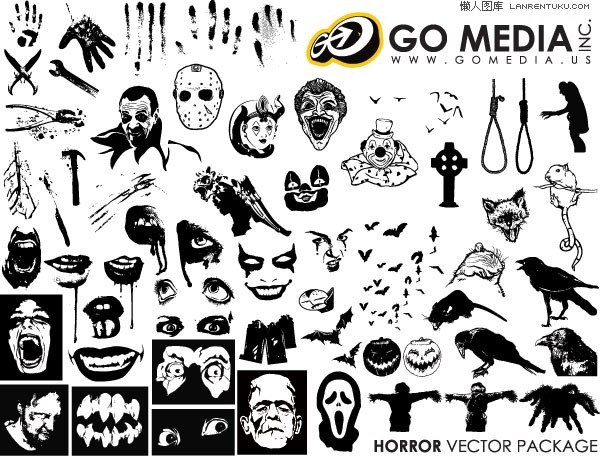 600x457 Horror Vector Graphics Collection My Free Photoshop World