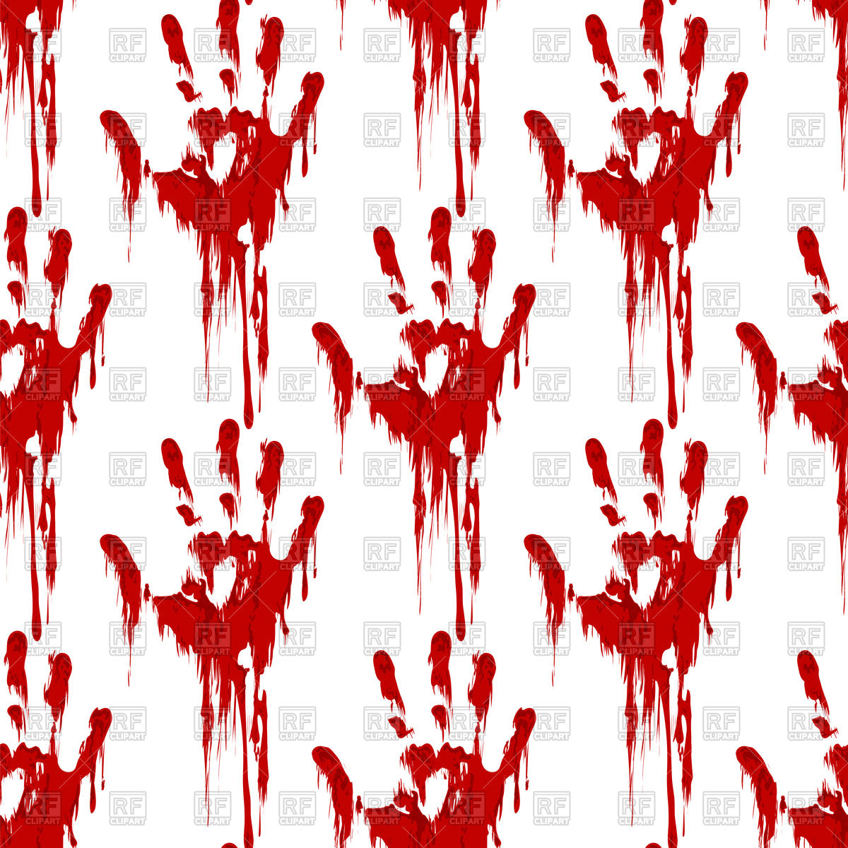 1200x1200 Bloody Hand Print Seamless Pattern Horror Background Vector Image