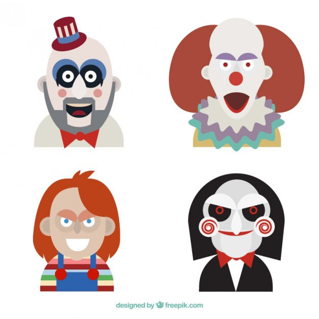 626x626 Horror Film Characters Vector Free Download