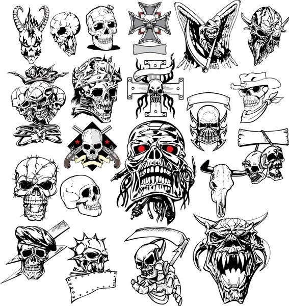 567x600 Horror Skull Picture Vector Free Vector In Encapsulated Postscript
