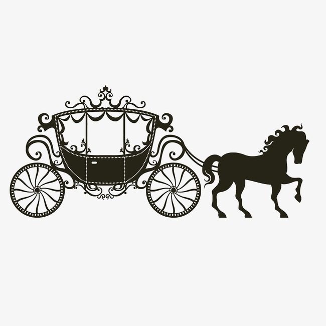 650x650 Carriage, Vector, Black And White Png Image And Clipart For Free