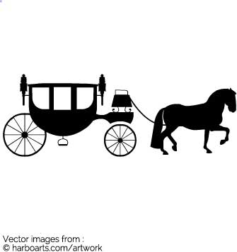 335x355 Download Wedding Horse Carriage Silhouette
