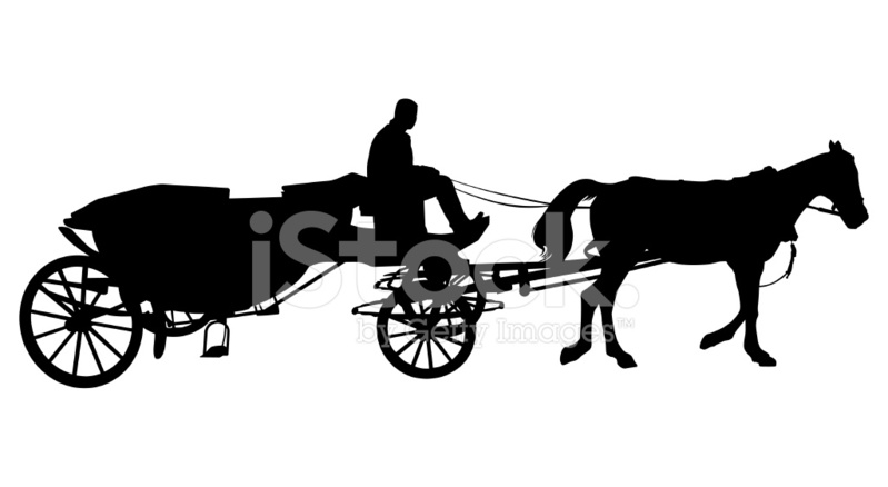 799x438 Horse Carriage Stock Vector