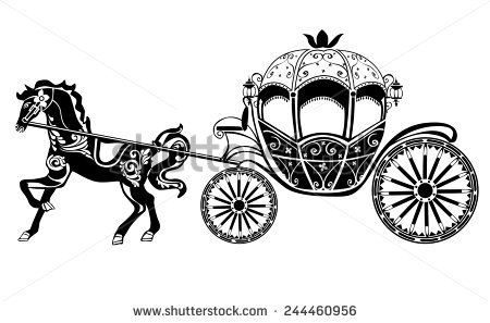 450x297 Horse Carriage Silhouette With Horse