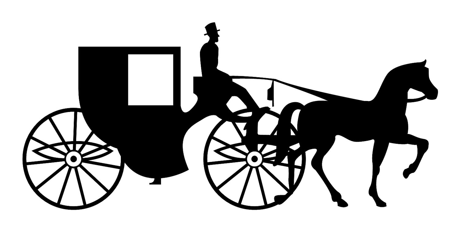 1500x758 Horse Drawn Carriage Clipart Vector Free Collection Download And
