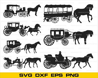 340x270 Horse Carriage Svg Etsy