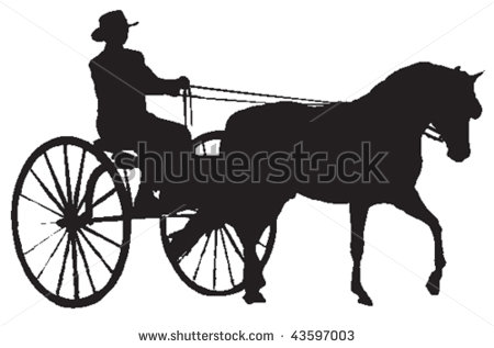 450x317 Horse Drawn Carriage Clipart Vector