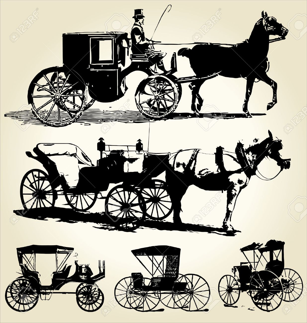 1235x1300 Horse Drawn Carriage Clipart Old Transportation