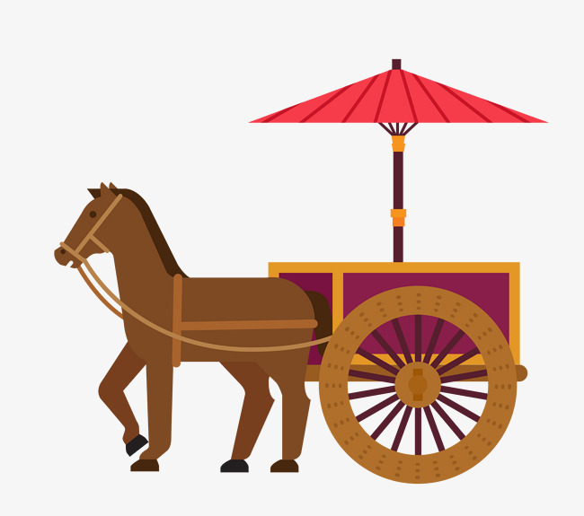 650x575 Vector Martial Arts Carriage Material, Vector Material, Horse