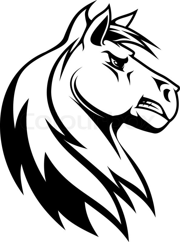 594x800 Collection Of Mustang Horse Face Drawing High Quality, Free